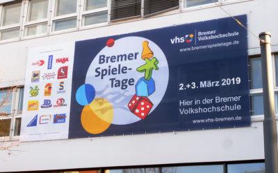 12. Bremer Spiele-Tage: Unser neues Fassadenbanner
